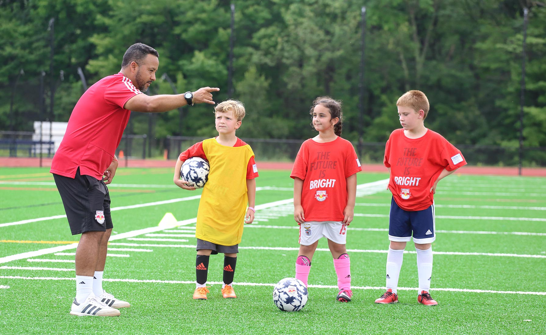 Red Bull Soccer Camp instruction at Pingry Big Blue Summer