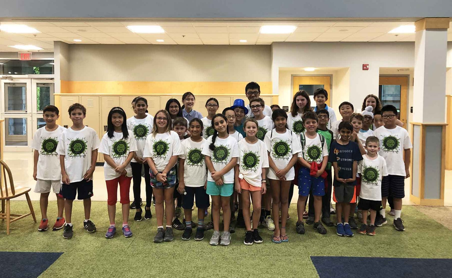 A group photo of campers for the International Ivy program.